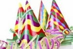 Thumbnail Colorful party hats with streamers