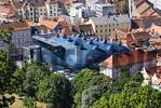 Thumbnail from the Schlossberg castle hill to the Kunsthaus art gallery Graz capital of Styria Austria