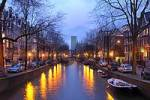 Thumbnail Amsterdam North Holland Netherlands evening at the Leidsegracht canal
