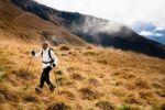 Thumbnail Woman hiking in Drei Zinnen, Tre Cime di Lavaredo area in Dolomite Alps, Southtirol, Italy, Europe