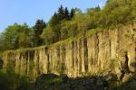 Thumbnail Natural monument of basalt columns, also called churns, on Poehlberg mountain, Annaberg-Buchholz, Erzgebirge, Saxony, Germany, Europe