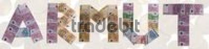 Thumbnail Armut/poverty, written with bank notes