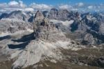 Thumbnail Aerial view, Three Peaks, Dolomites, Alto Adige, Italy, Europe