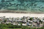 Thumbnail Aerial view, beach with fishermen's huts, Bali Cliff, East Coast, Bali, Indonesia, Southeast Asia