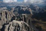 Thumbnail Aerial view, Langkofel Mountain, Dolomites, Alto Adige, Italy, Europe