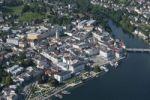 Thumbnail Aerial view, Gmunden, Lake Traun, Upper Austria, Austria, Europe