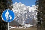 Thumbnail Traffic signs in the mountains, Werfen, Austria, Europe