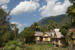 Thumbnail Simple bamboo and rattan guest houses, Muang Ngoi Kao, Luang Prabang province, Laos, Southeast Asia, Asia