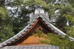 Thumbnail Ridge of the roof with a decorative edge of coping stones on a Shrine roof in Iwakura, near Kyoto, Japan, East Asia, Asia