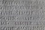 Thumbnail Latin inscription on stone, Ponte Cestio in Rome, Italy, Europe