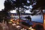 Thumbnail Terrace of the Hostal Bahia Azul hotel, Porto Colom, Majorca, Balearic Islands, Spain, Europe