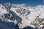 Thumbnail Fiescher Glacier, aerial view, winter, Valais, Switzerland, Europe