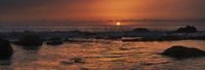 Thumbnail Sunset on the rocky Playa de Valle de Gran Rey beach, La Gomera, Canary Islands, Spain, Europe