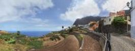 Thumbnail The small pristine coastal village of Agulo, La Gomera, Canary Islands, Spain, Europe