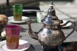 Thumbnail Teapot and tea glasses in Morocco, Africa