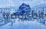 Thumbnail tiles at theatre - Azulejos - Funchal - Madeira