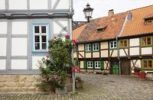 Thumbnail Street with half-timbered houses, Halberstadt, Saxony-Anhalt, Germany, Europe