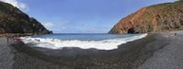 Thumbnail Panorama on the beach of Playa de Vallehermoso Vallehermoso, La Gomera, Canary Islands, Spain, Europe