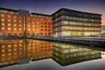 Thumbnail Modern buildings, dusk, Saarbruecken, Saarland, Germany, Europe