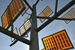 Thumbnail Solar tree in Solar City, Ulm residential quarter, Ulm, Baden-Wuerttemberg, Germany, Europe