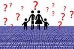 Thumbnail Symbolic image for family, observation of families, data stream, information overload for families, illustration