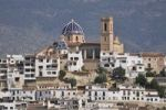 Thumbnail View from the port on the old town with the church of Nuestra Señora del Consuelo, Altea, Costa Blanca, Spain, Europe