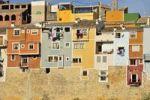 Thumbnail Colourful building facades, Villajoiosa, Costa Blanca, Spain, Europe