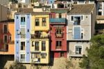 Thumbnail Colourful building facades, Villajoiosa, Costa Blanca, Spain, Europe