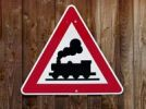 Thumbnail Warning sign, rail traffic