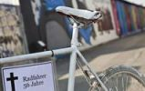 Thumbnail White bicycle as a memorial for cyclists who died in traffic accidents, Berlin, Germany, Europe