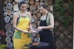 Thumbnail Two women barbecuing