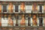 Thumbnail Mural painting, Casa de la Panaderá, Plaza Mayor, Madrid, Spain