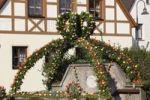 Thumbnail Easter fountain, decorated fountain, Kirchehrenbach, Franconian Switzerland, Upper Franconia, Franconia, Bavaria, Germany, Europe