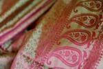 Thumbnail Benares silk with India droplet patterns, Varanasi, Uttar Pradesh, India, Asia