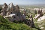 Thumbnail Village with cave dwellings, Uchisar, Cappadocia, Turkey, Asia
