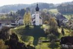 Thumbnail Baernfels, with Maria Schnee daughter church, municipality of Obertrubach, Franconian Switzerland, Upper Franconia, Franconia, Bavaria, Germany, Europe