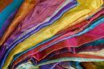 Thumbnail Benares silk fabrics, Varanasi, Uttar Pradesh, India, Asia