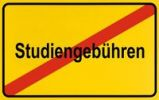 Thumbnail City limit sign, symbolic image in German for the abolition of tuition fees to encourage equality in education, right to education for all