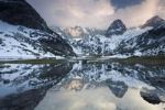 Thumbnail Mountains reflected in Lake Seebensee in Ehrwald in the Austrian Alps, Tyrol, Austria, Europe