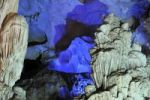 Thumbnail Colourfully, illuminated rock formation in Hang Sung Sot cave, Surprise Cave, Cave of Awe, a UNESCO World Heritage Site, stalactite cave in Halong Bay, Vietnam, Southeast Asia, Asia