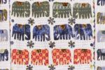 Thumbnail Blanket with sewn-on elephants, Jaipur, Rajasthan, India, Asia