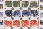 Thumbnail Blanket with sewn-on elephants, Jaipur, Rajasthan, India, Asia