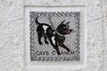 Thumbnail Warning sign, Cave canem, beware of the dog, Lake Maggiore, Switzerland, Europe