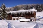 Thumbnail House with icicles, Bavaria, Germany, Europe