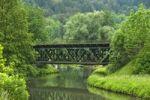 Thumbnail Old railway bridge over the river Pegnitz in Enzendorf, Bavaria, Germany, Europe