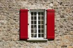 Thumbnail Red shutters and window, Quebec City, Quebec, Canada