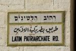 Thumbnail Trilingual road sign in the Christian Quarter in the Old City, Jerusalem, Israel, Middle East, Asia