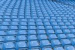 Thumbnail Rows of blue seats at the Manchester City football stadium in Manchester, England, United Kingdom, Europe