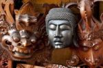 Thumbnail Buddhist and Hindu masks, Ubud, central Bali, Indonesia, Southeast Asia