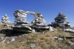 Thumbnail Cairns on Rossstall Mountain, Pizol, Canton of St. Gallen, Switzerland, Europe, PublicGround